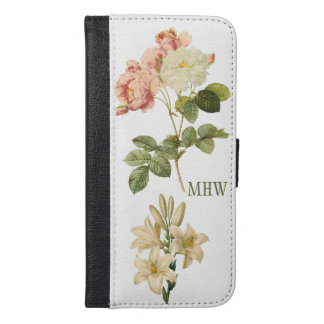 Vintage Flowers custom monogram wallet cases