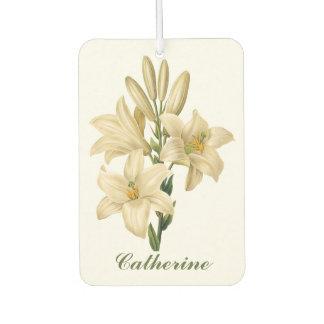 Vintage Flowers custom name air freshner 1 Car Air Freshener