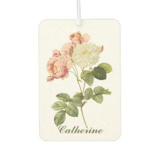 Vintage Flowers  custom name air freshner 2 Car Air Freshener