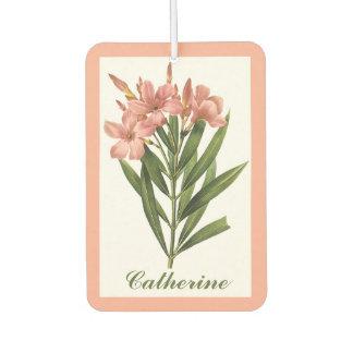 Vintage Flowers  custom name air freshner 3 Car Air Freshener