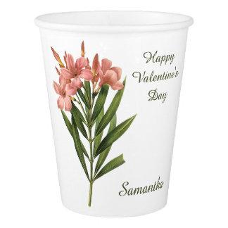 Vintage Flowers custom text paper cups 3