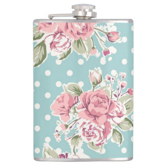 Vintage flowers design hip flask