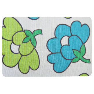 Vintage flowers floor mat