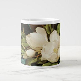 Vintage Flowers, Giant Magnolias by Martin Heade Large Coffee Mug