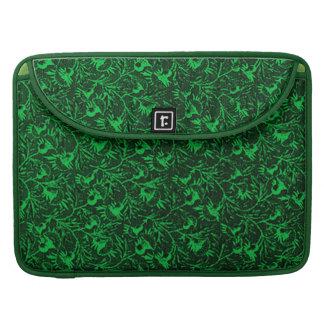 Vintage Flowers Green Macbook Pro Flap Sleeve MacBook Pro Sleeves