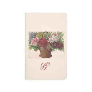 Vintage flowers illustration notebook FromMyDesk