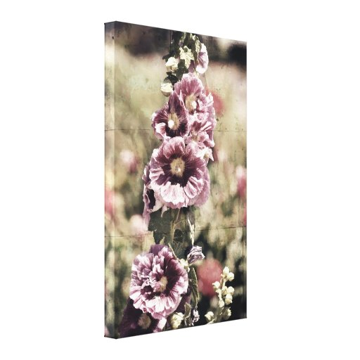 Vintage Flowers in a Garden Canvas Prints