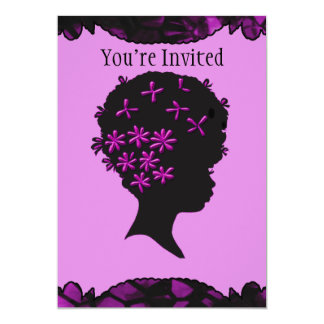 Vintage Flowers In Afro 13 Cm X 18 Cm Invitation Card