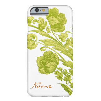 Vintage Flowers in Green and Yellow Barely There iPhone 6 Case