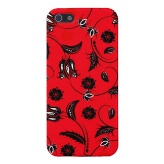 Vintage Flowers in Red iPhone 5 Case