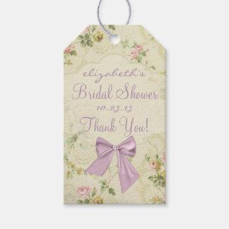 Vintage Flowers Lavender Bridal Shower Gift Tags
