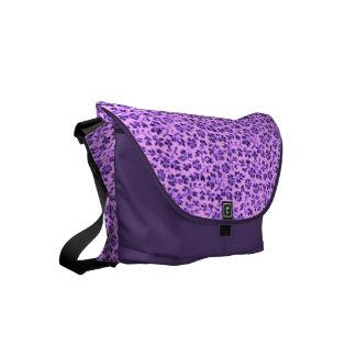 Vintage Flowers Lavender Purple Messenger Bags