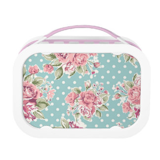 Vintage flowers lunch box