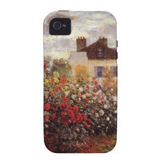 vintage flowers monet garden-in-argenteuil-sun Case-Mate iPhone 4 cases