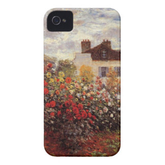 vintage flowers monet garden-in-argenteuil-sun iPhone 4 cover