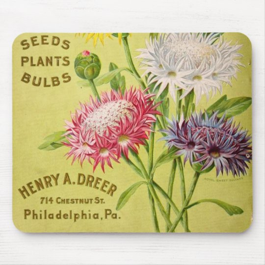 VINTAGE FLOWERS MOUSE MAT