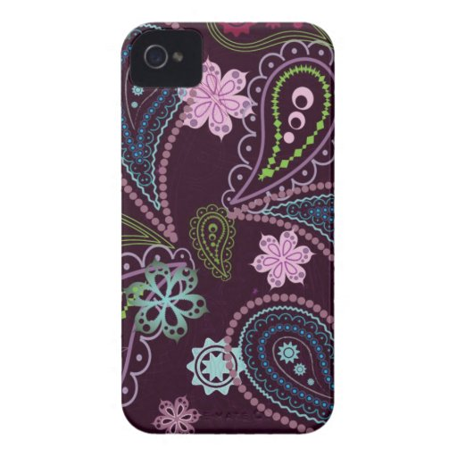 vintage flowers multicoloured iPhone 4 cover