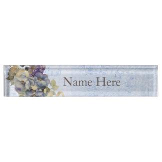 Vintage Flowers Name Plate