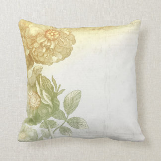 vintage flowers old elegant cushion
