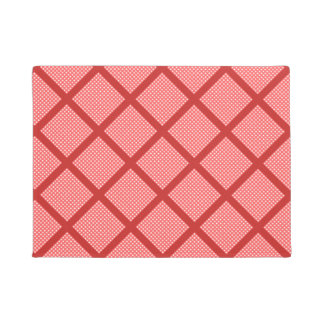 Vintage Flowers on Gingham Doormat
