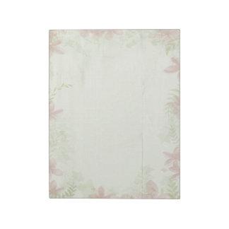 Vintage Flowers Paper Notepad