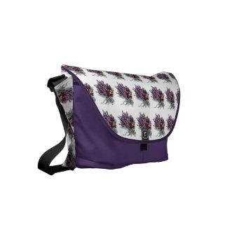 Vintage Flowers Purple Lavender Floral Bouquet Courier Bags