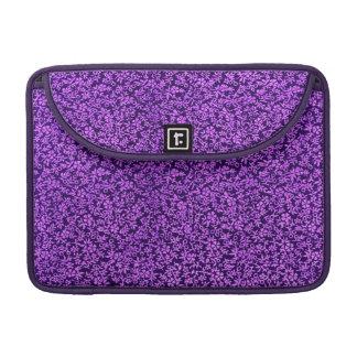 Vintage Flowers Purple Macbook Pro Flap Sleeve MacBook Pro Sleeves