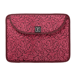 Vintage Flowers Red Macbook Pro Flap Sleeve MacBook Pro Sleeves