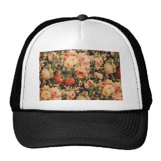 Vintage flowers rose texture 900s style cap