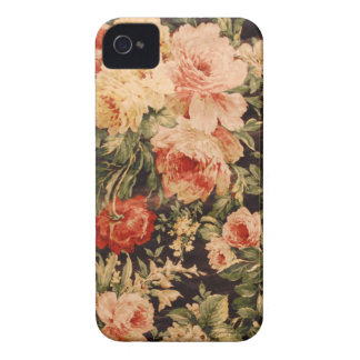 Vintage flowers rose texture 900s style iPhone 4 cover