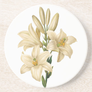 Vintage Flowers sandstone coaster 1