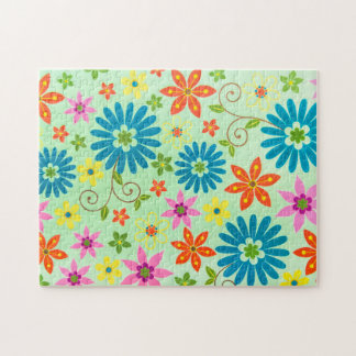 Vintage Flowers Texture Pattern Impossible Puzzle