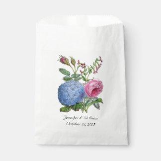 Vintage Flowers Wedding Favor Bag