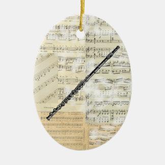 Vintage Flute Music Ornament