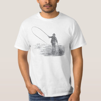 Vintage Fly Fishing Art T Shirt