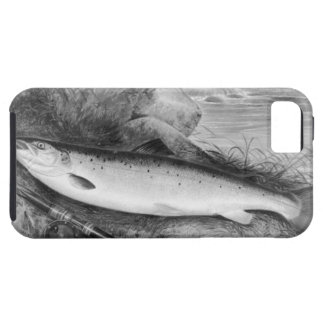 Vintage Fly Fishing art Tough iPhone 5 Case