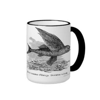 Vintage flying fish mug