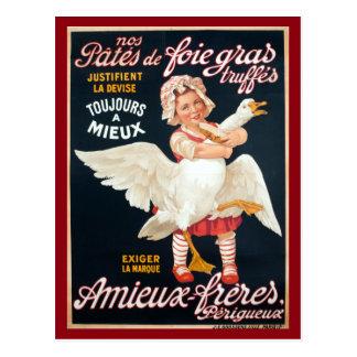 Vintage Foie Gras Pate Advertisement Postcard