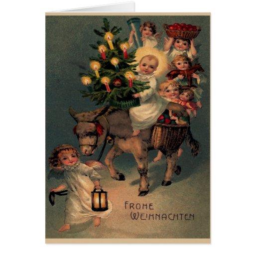 "Vintage folding map ""glad Christmas "" Greeting Card"