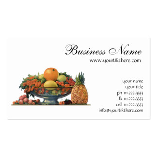 Vintage Food, Assorted Fruit in a Bowl Pack Of Standard Business Cards