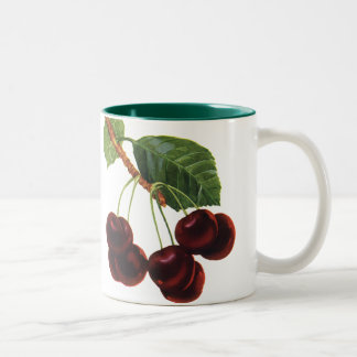 Vintage Food Fruit, Cherries on a Branch Two-Tone Mug