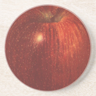 Vintage Food Fruit, Organic Red Delicious Apple Coaster