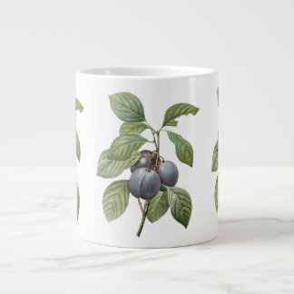 Vintage Food Fruit, Purple Garden Plums by Redoute Jumbo Mug