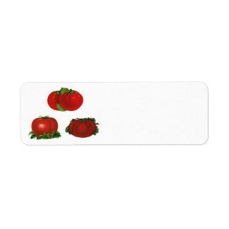 Vintage Food, Fruits, Vegetables, Red Ripe Tomato Return Address Label