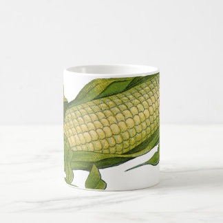 Vintage Food, Healthy Vegetables, Corn on the Cob Basic White Mug