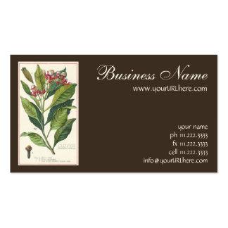 Vintage Food Herbs Spices, Botany of Cloves Pack Of Standard Business Cards