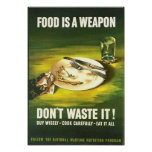 Vintage Food is A Weapon, Don't Waste it! Wartime