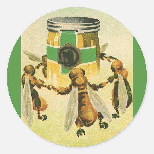 Vintage Food, Organic Honey Bees Dancing Jar Classic