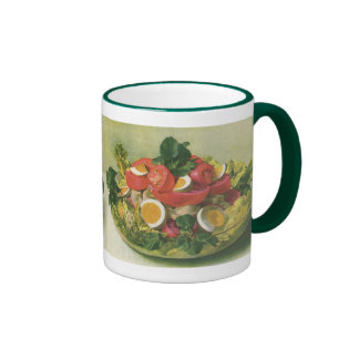 Vintage Food, Organic Mixed Green Mesclun Salad Mugs