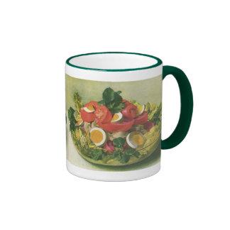 Vintage Food, Organic Mixed Green Mesclun Salad Ringer Mug